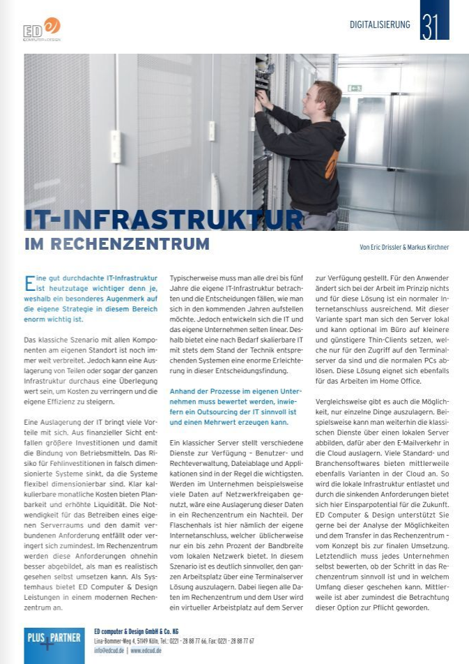 IT-Infrastruktur im Rechenzentrum
