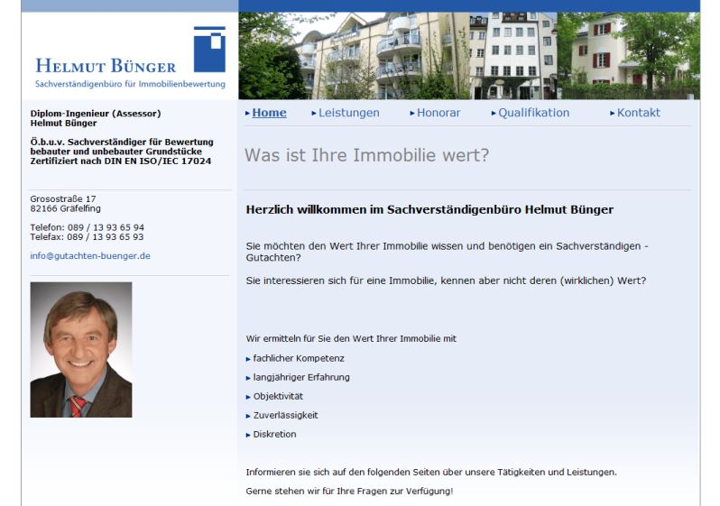 Helmut Bünger Sachverständiger, Gräfelfing